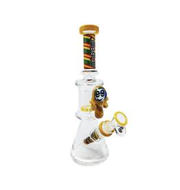 "Cheech 11"" Honey Drip Dual Chamber Beaker by Cheech"