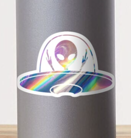 Holographic Alien Sticker