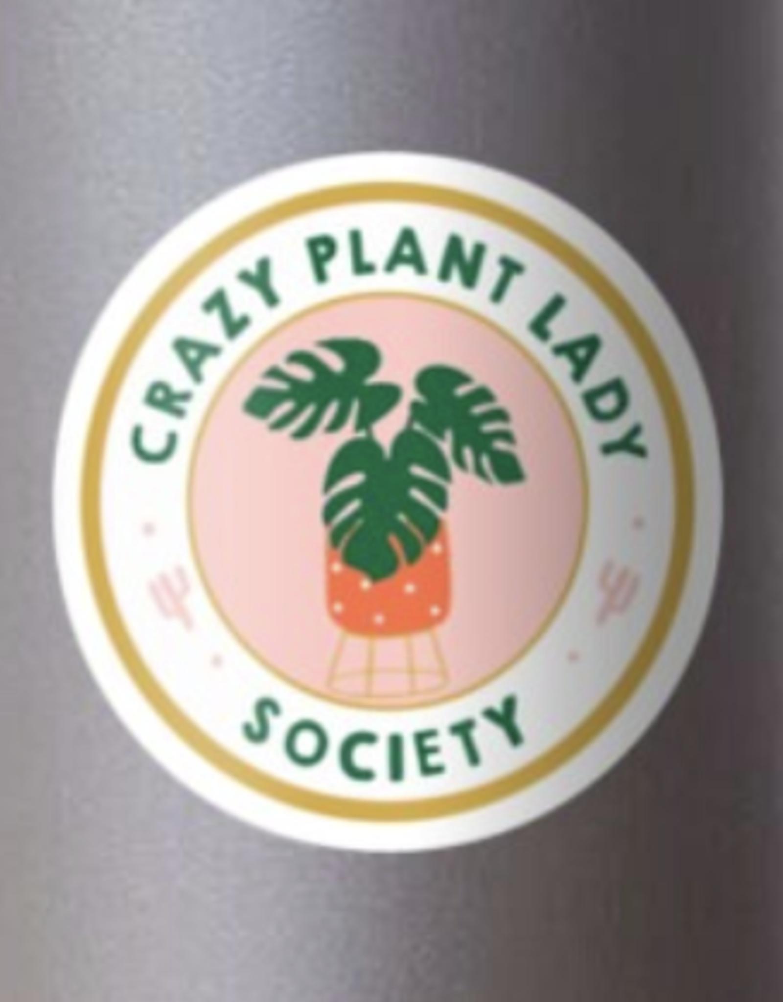 Crazy Plant Lady Society Sticker