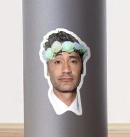 Taika Waititi Flower Crown Sticker