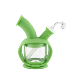 Green Ooze Silicone & Glass Bubbler - Kettle