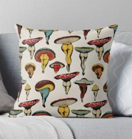 Sexy Mushroom Throw Pillow