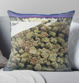Weed Baggie Throw Pillow