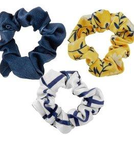Vintage Floral Velvet Scrunchie Set