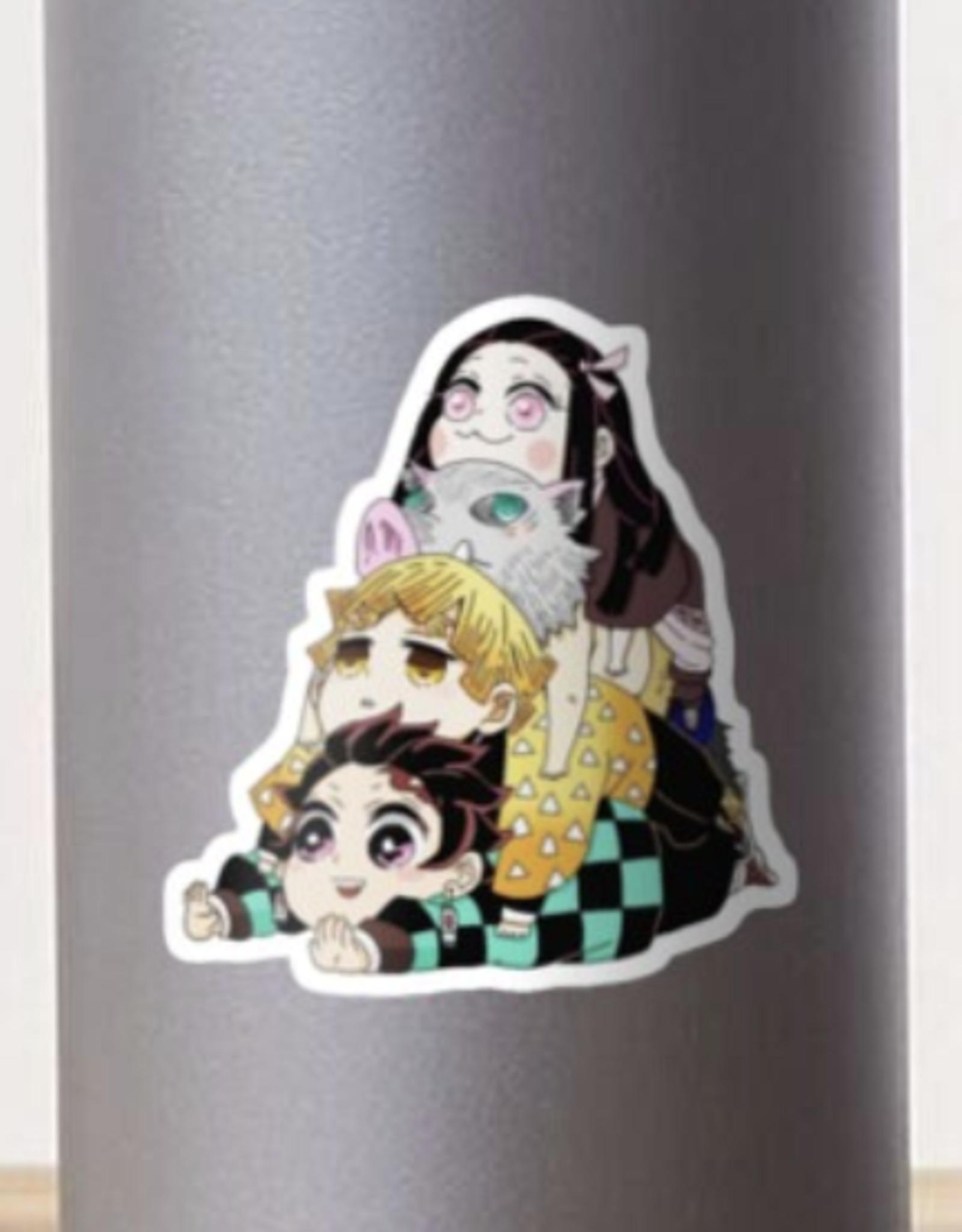 Demon Slayer Gang Cute Sticker