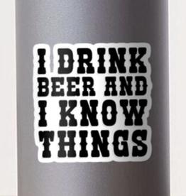 I Drink Beer Sticker