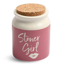 Stoner Girl Ceramic Stash Jar