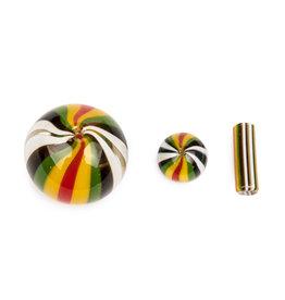 Multi Colour Terp Slurper Heat Bead & Cap Set
