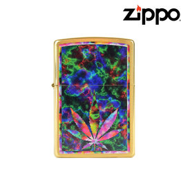 Zippo Colourful Leaf Design Zippo