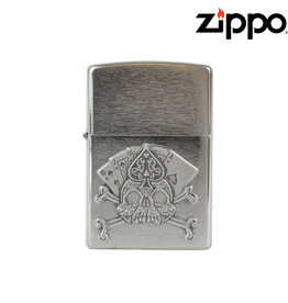 Zippo Card & Skull Emblem Zippo