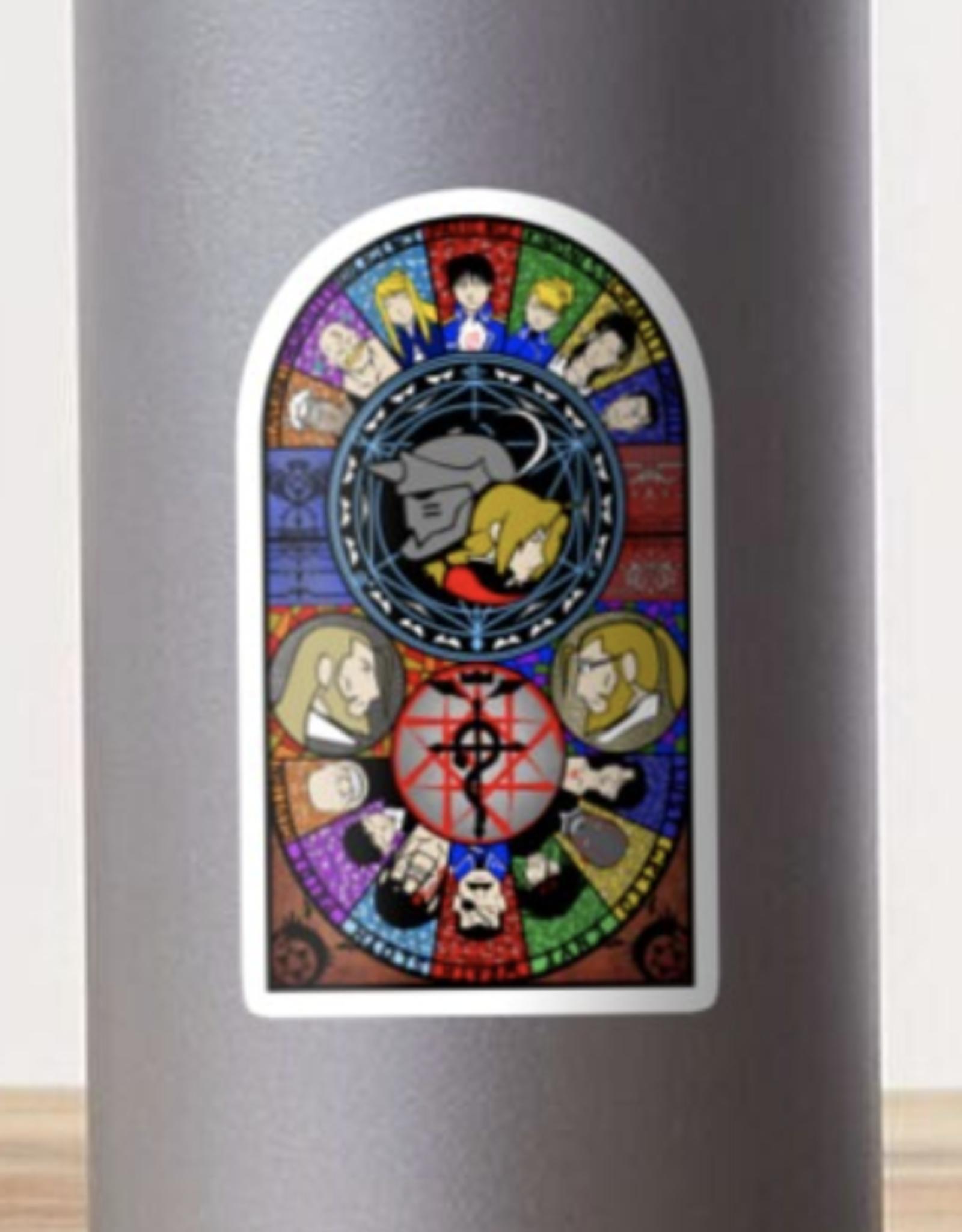 Fullmetal Alchemist Stained Glass Sticker