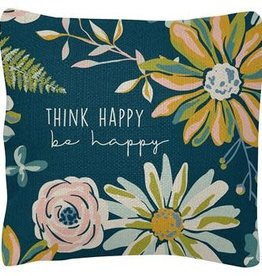 Square Pillow - Think Happy