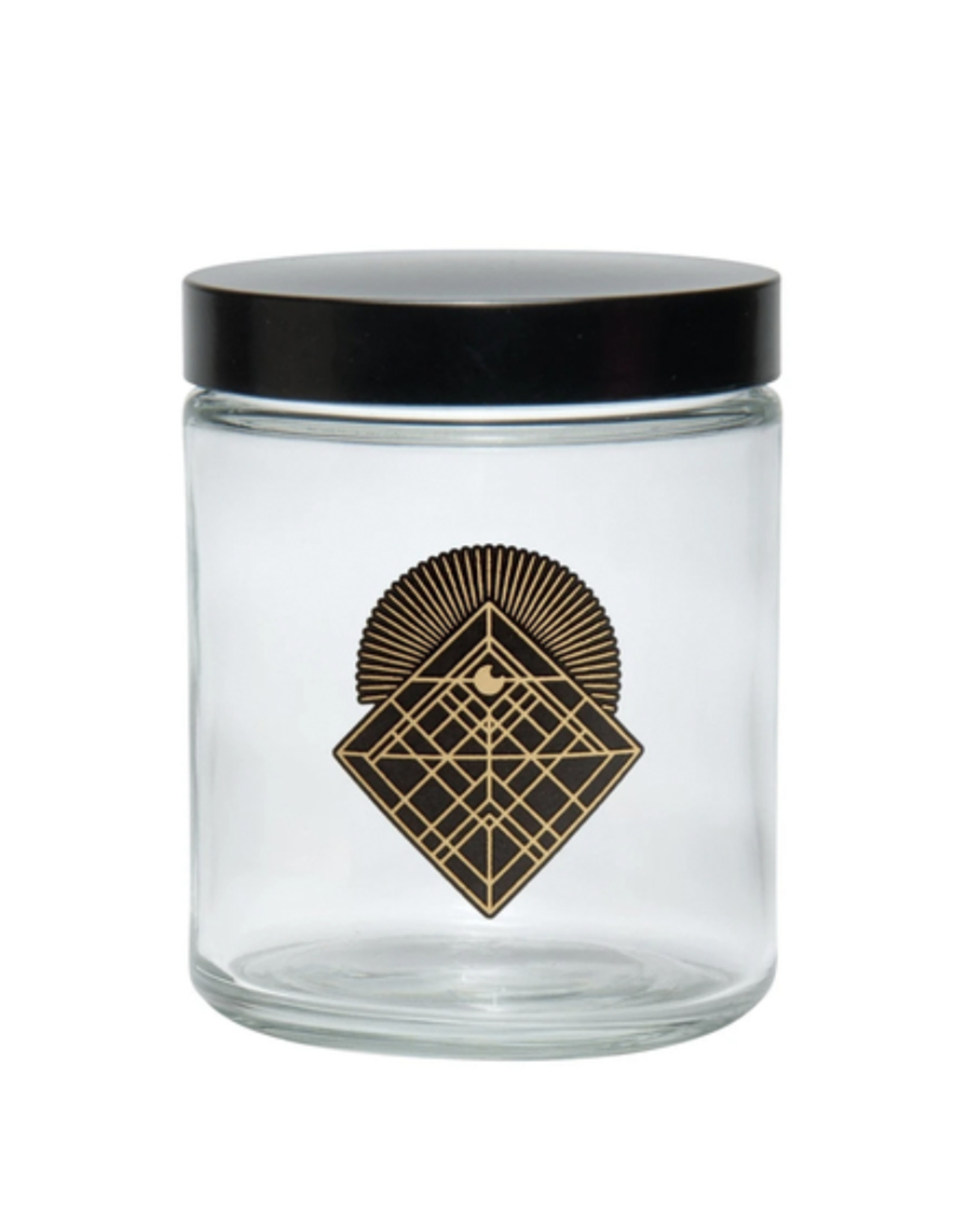 420 Science Clear Screw Top Jar Large - Diamond Intersect