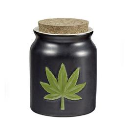 FashionCraft Leaf Storage Jar