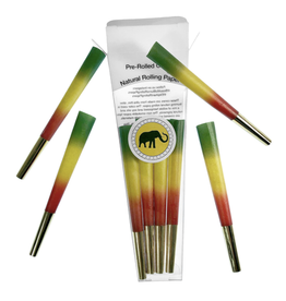 Elephant Brands Rasta w/ Gold Tip - Pre-Rolled Designer Cones (8 Pack)