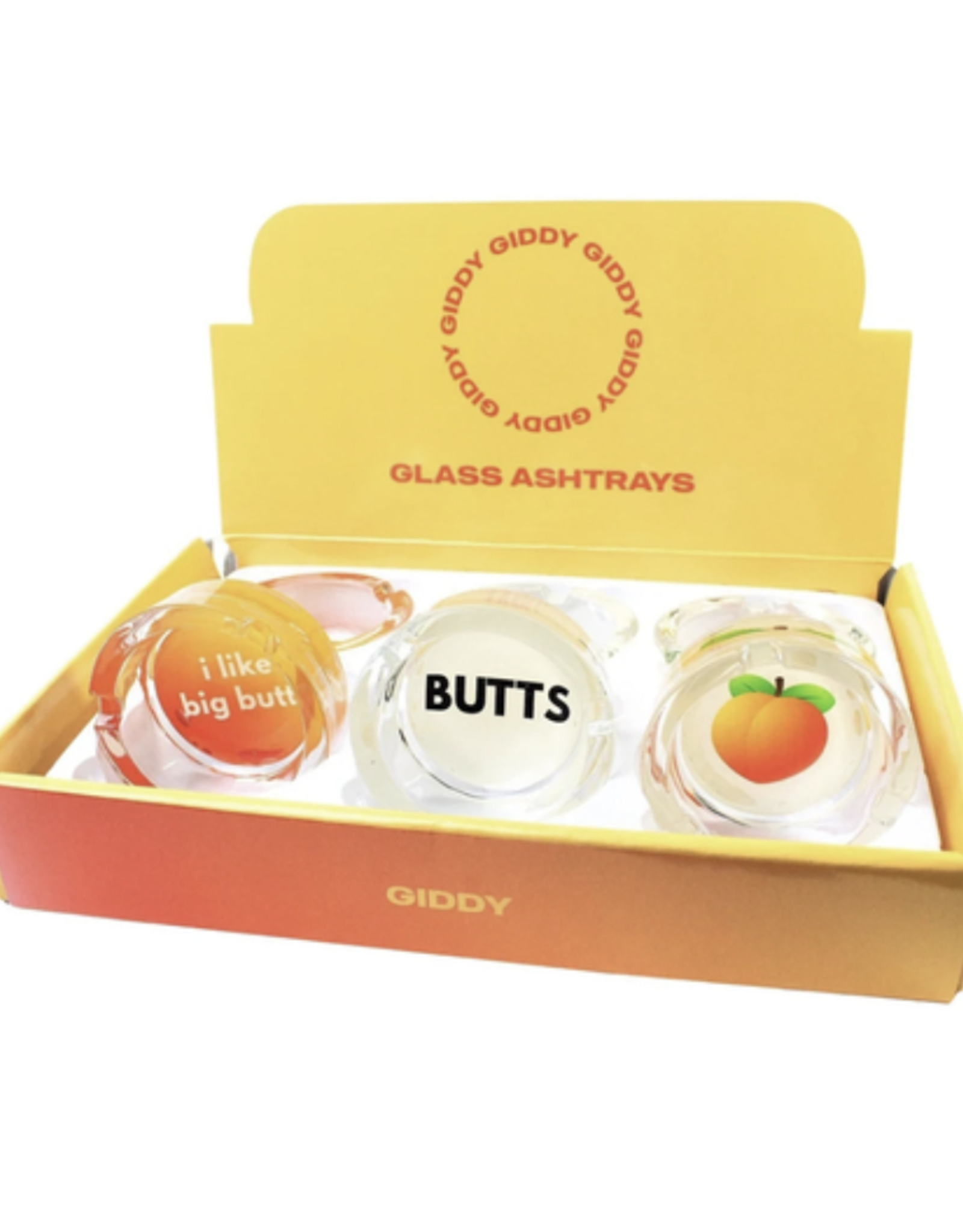 """Butts 3.3"""" x 1.4"""" Glass Ashtray by Giddy"""