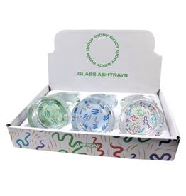 """Giddy Pattern 3.3"""" x 1.4"""" Glass Ashtray by Giddy"""