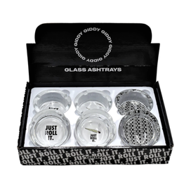 """Just Roll It 3.3"""" x 1.4"""" Glass Ashtray by Giddy"""