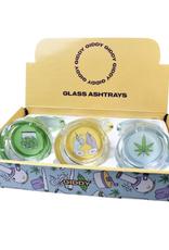"Best Buds 3.3"" x 1.4"" Glass Ashtray by Giddy"