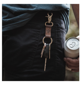 Revelry Supply Leather Keychain with Clip