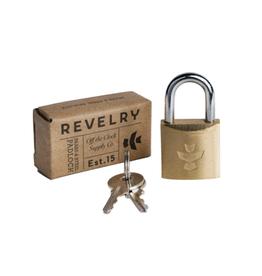 "Revelry Supply Brass 3/4"" Padlock with Keys"