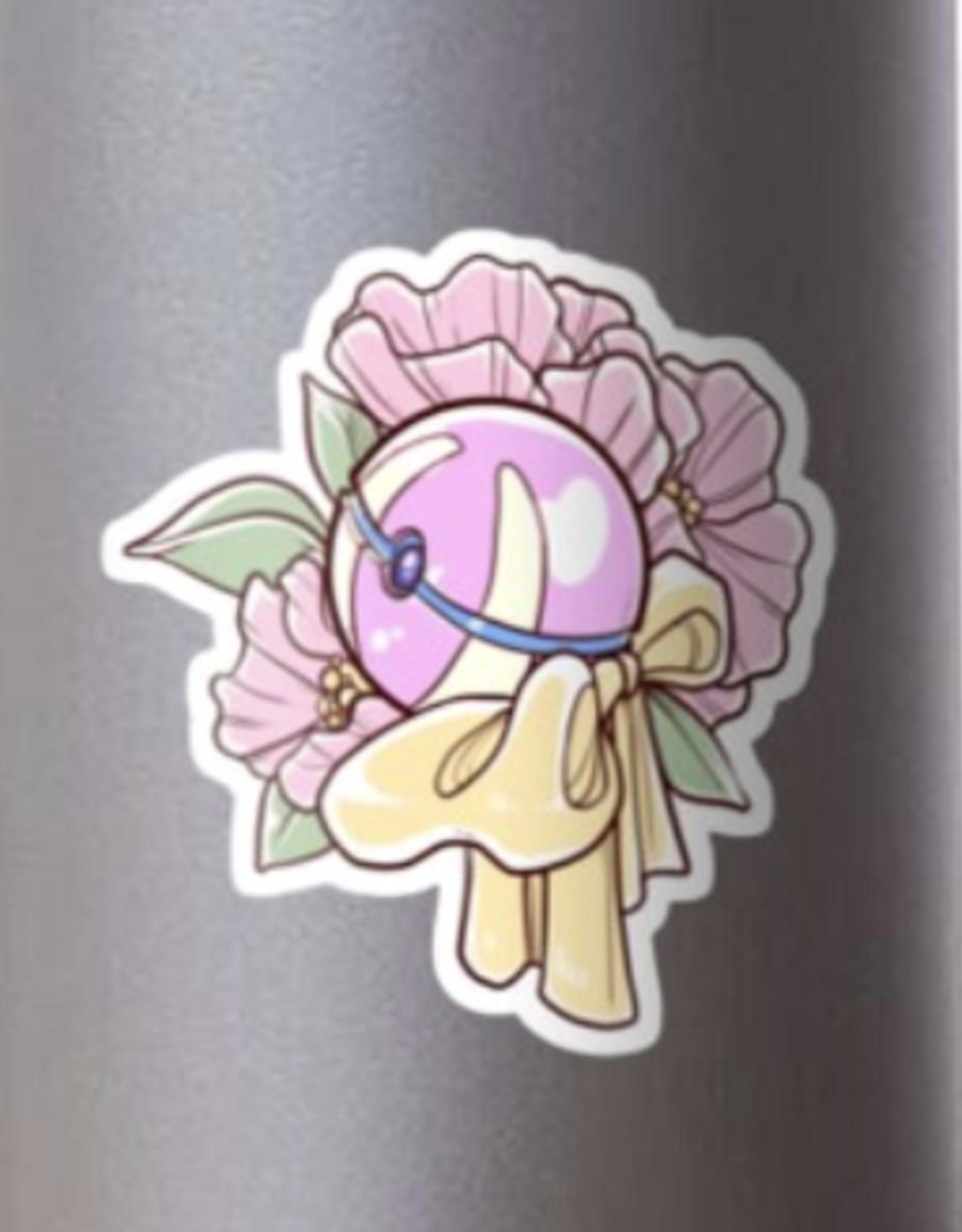 Floral Heal Ball Sticker