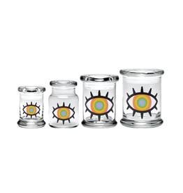 420 Science Pop Top Jar - Woke Rainbow Eye