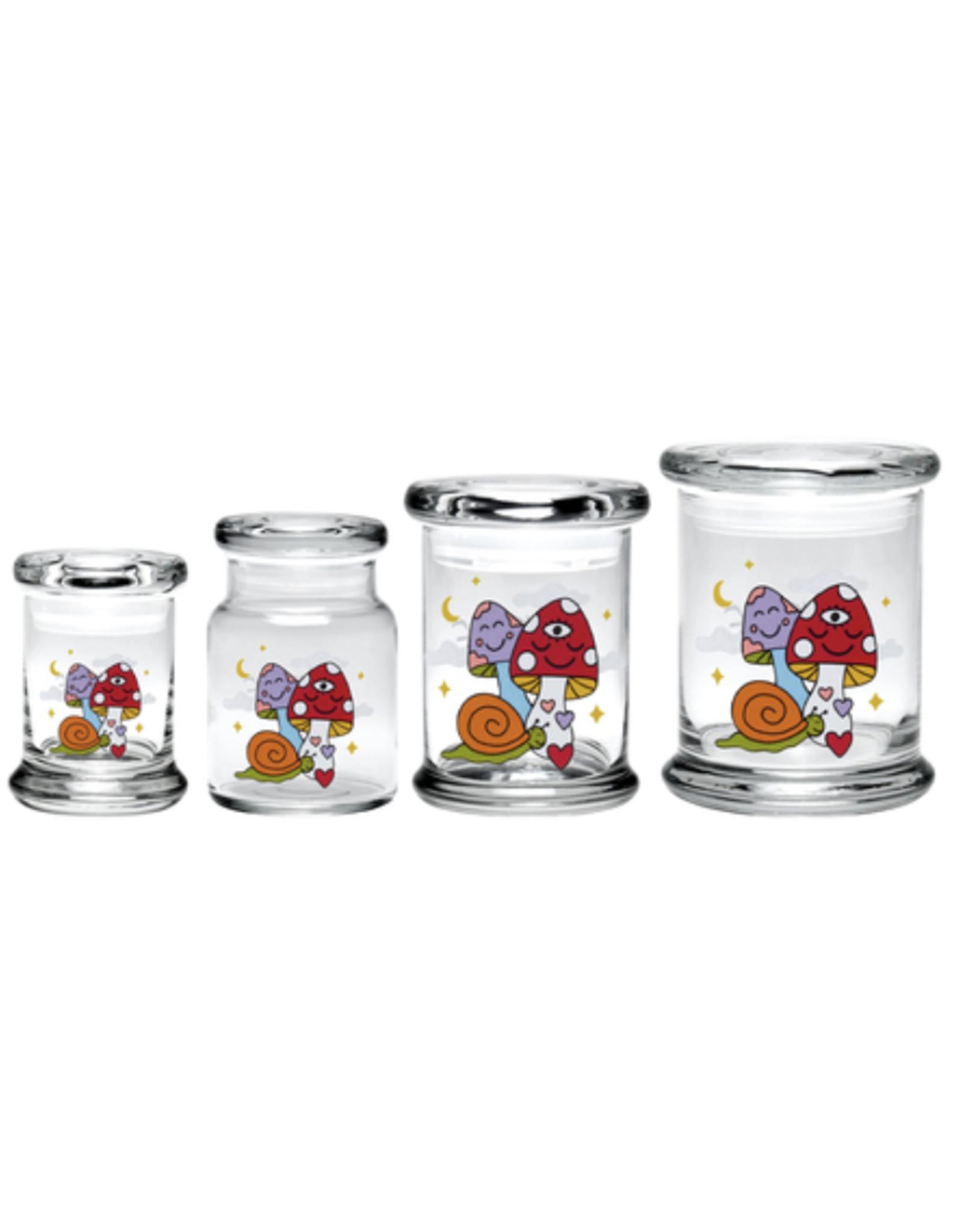 420 Science Pop Top Jar - Woke Cosmic Mushroom