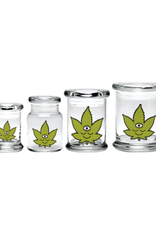 420 Science Pop Top Jar - Toke Face