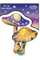 Dan Morris Mushroom Sticker
