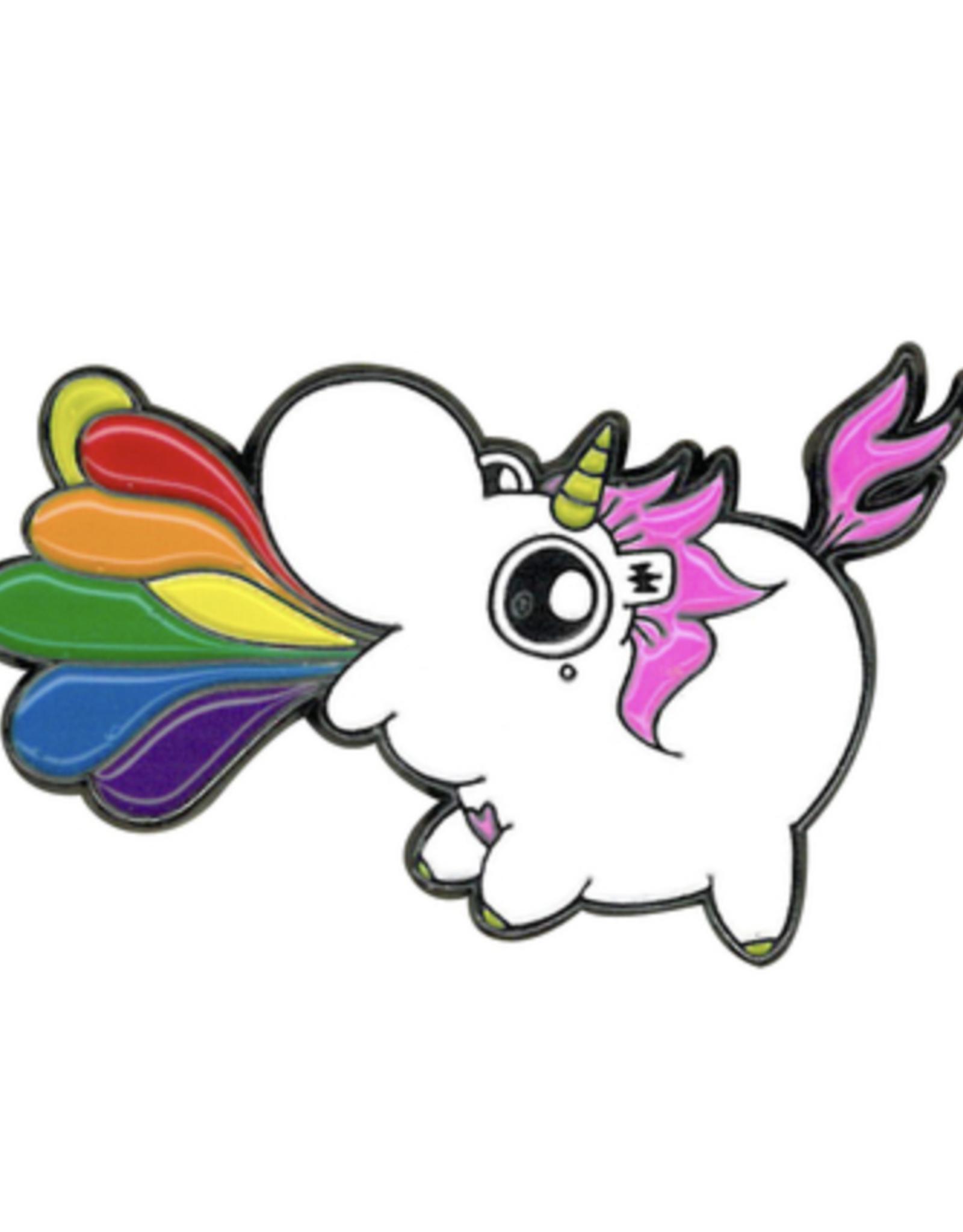 Chubby Unicorn Rainbow Enamel Pin