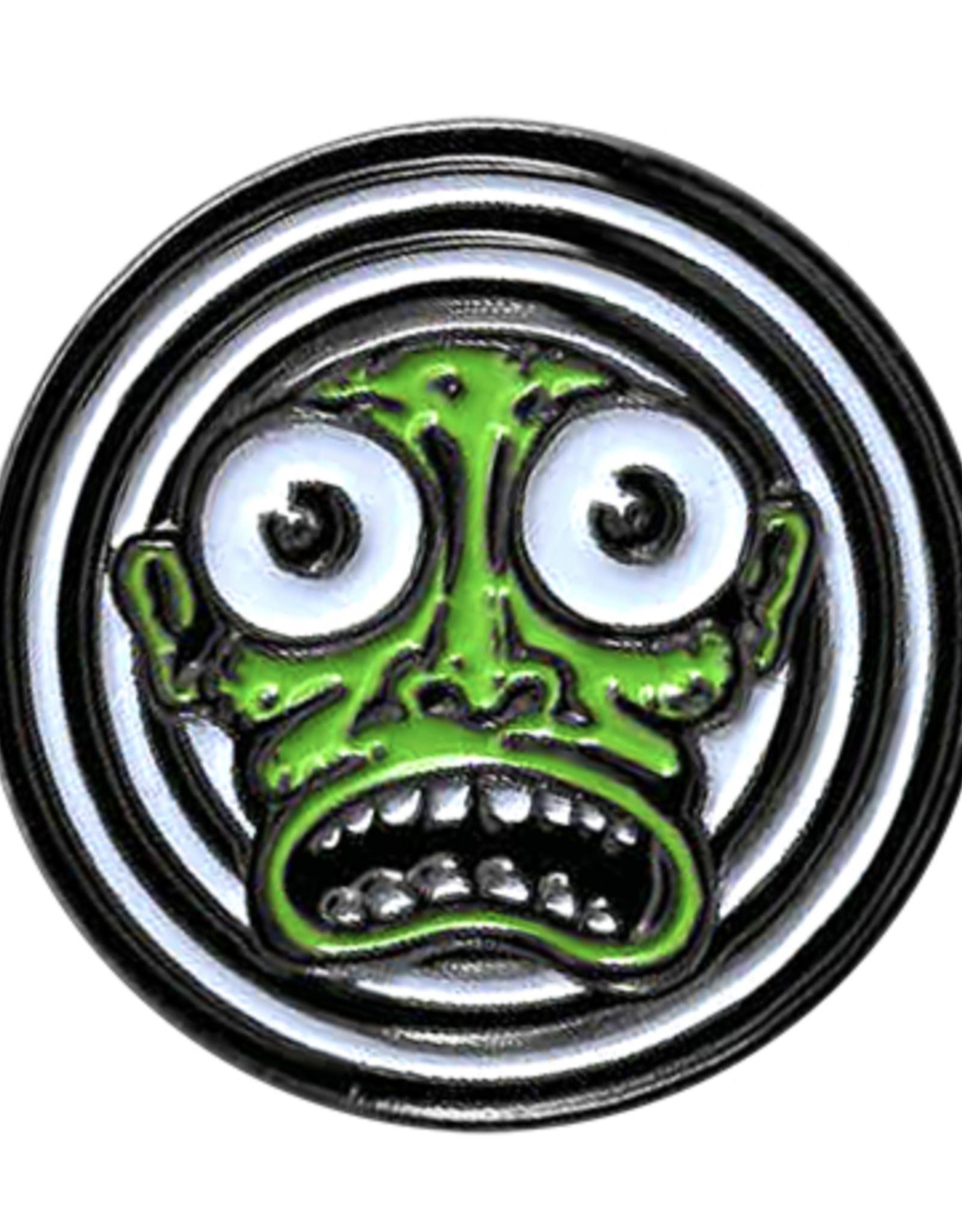 Kalynn Campbell Green Face Enamel Pin
