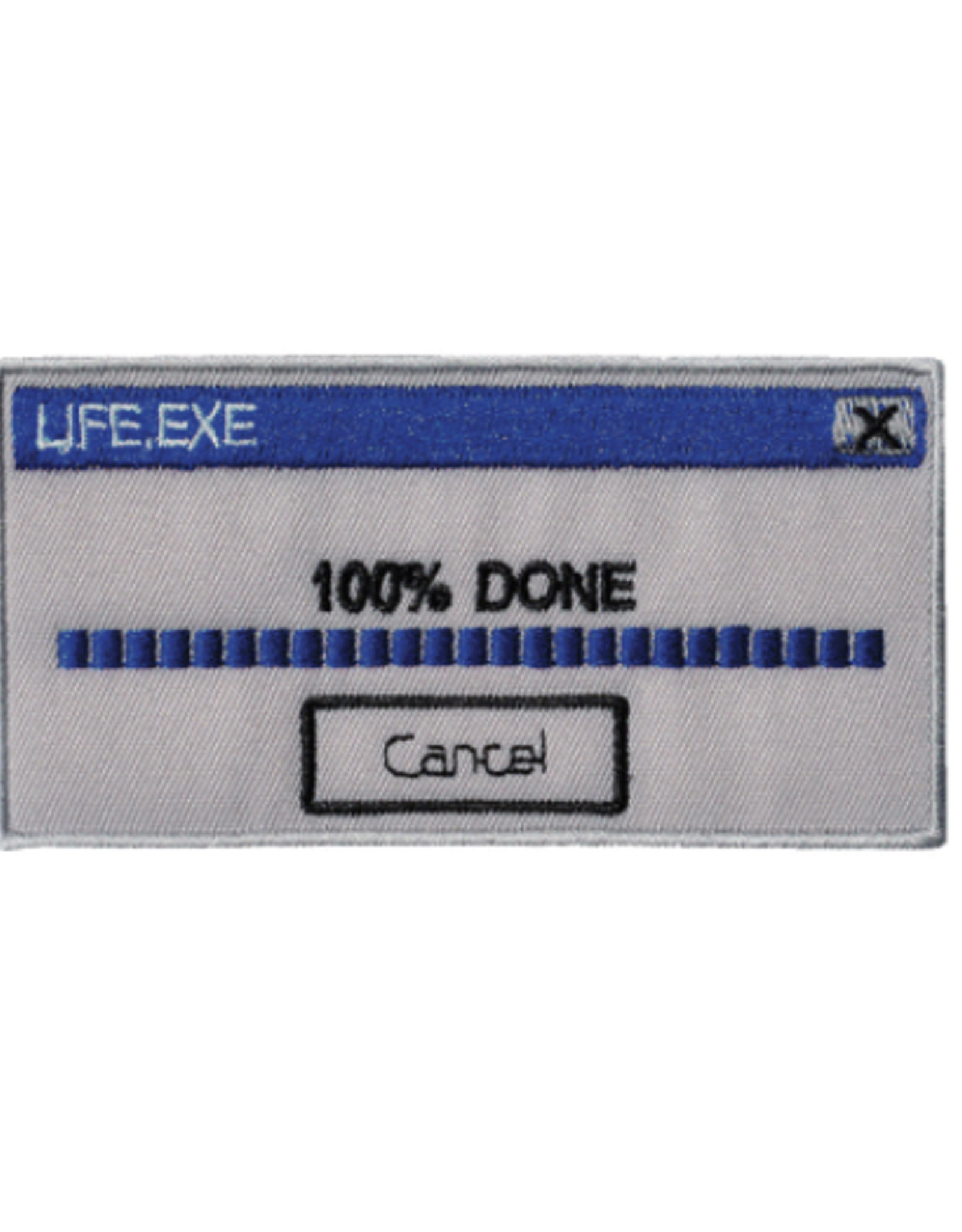 100% Done with Life Embroidered Patch by Retrograde Supply Co