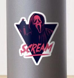 Scream Movie 80s Design Sticker