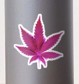 Pink Leaf Sticker