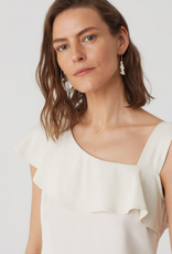 Nice Things Nice Things Satin ruffle top