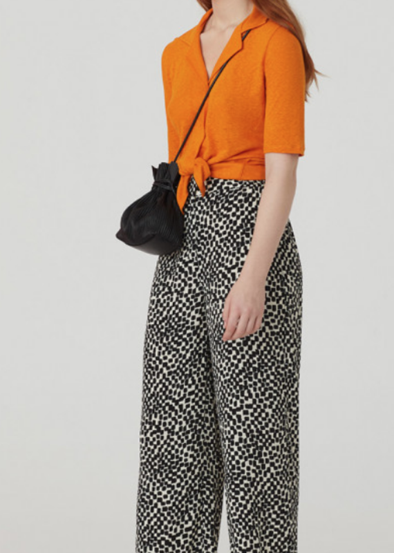 Nice Things Irregular Checks Print Capri Pant