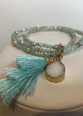 Biwa Biwa beaded wrap bracelet