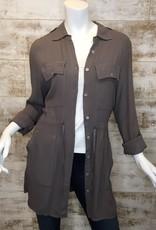 Pistache Safari Crepe Jacket