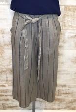 Pistache Pistache Linen Stripe Gaucho Pant