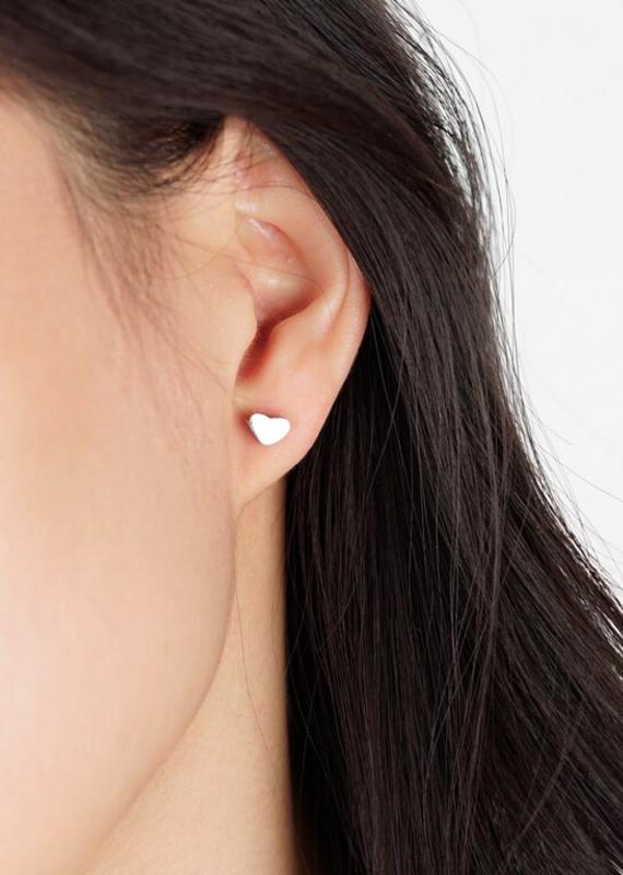JJ & RR Heart stud earrings