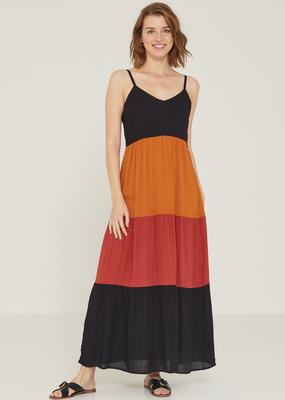 Yerse Color block maxi dress