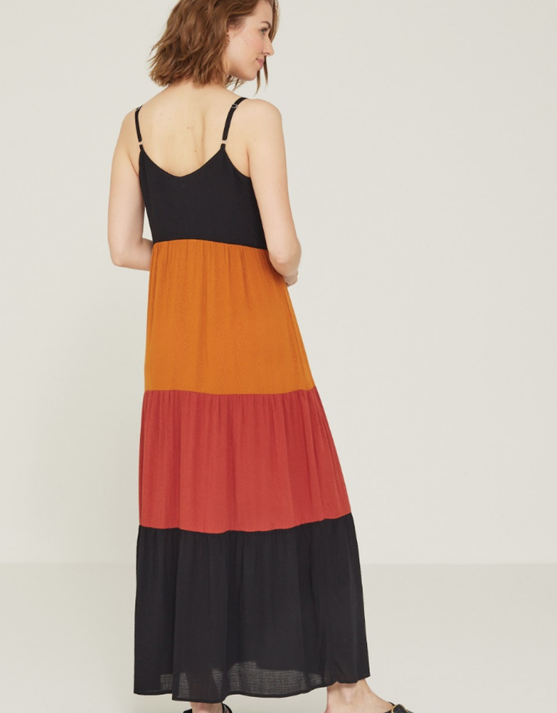 Yerse Yerse Color block maxi dress