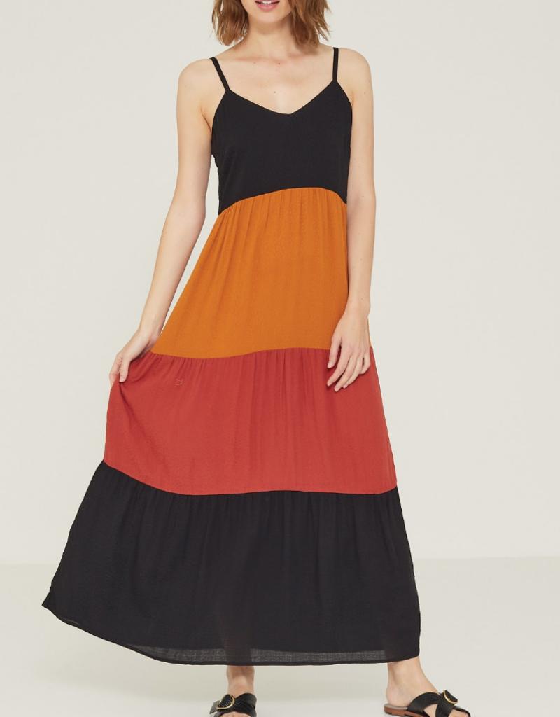 Yerse Yerse Color block maxi dress