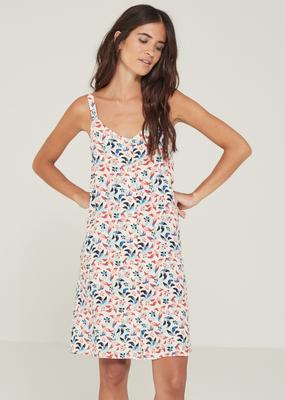 Yerse Floral print button tank  dress