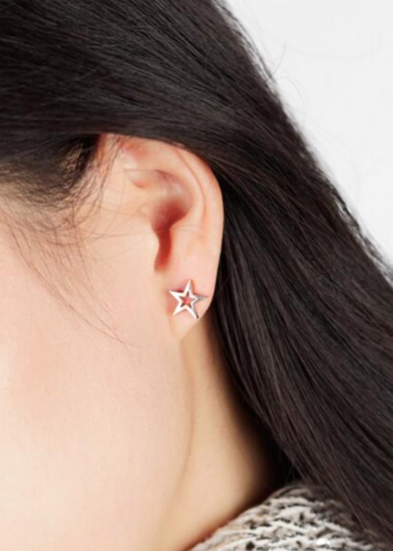 JJ & RR Open Star Earrings