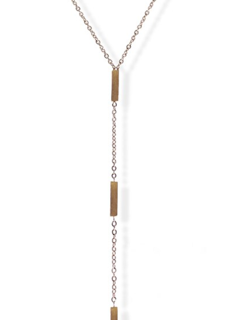 JJ & RR JJ+RR Triple Rectangle Y Necklace