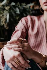 Sarah Mulder Sarah Mulder Verse Ring Silver w Rose Quartz Size 6