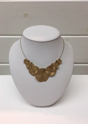 Merx Matte Gold Solid sphere necklace