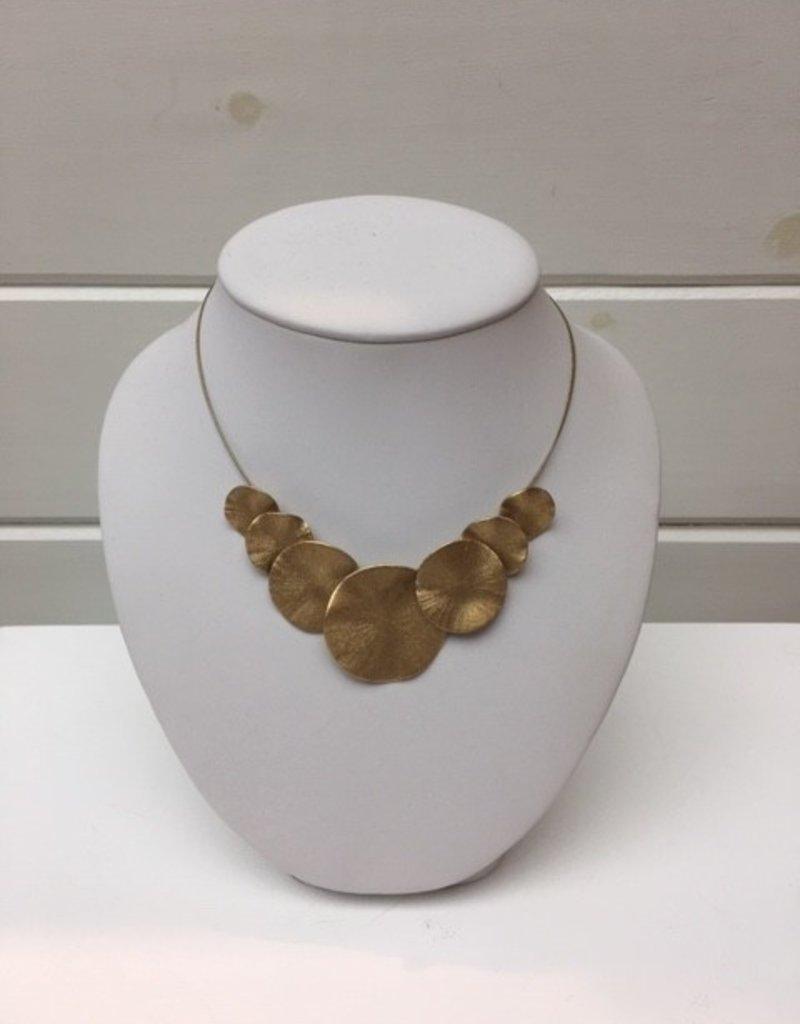 Merx Matte Gold Solid sphere necklace